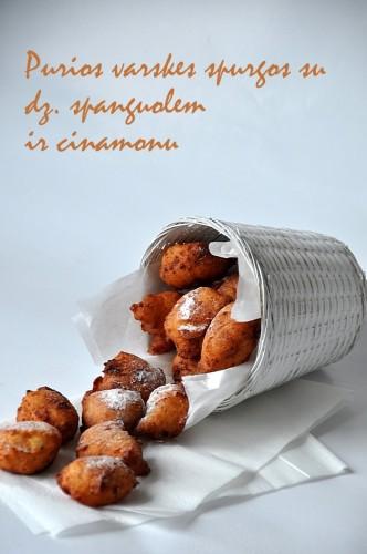 varskines spurgos su dz. spanguolem ir cinamonu