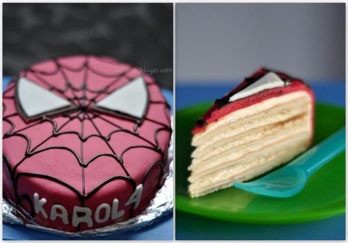 tortas zmogus voras - spiderman