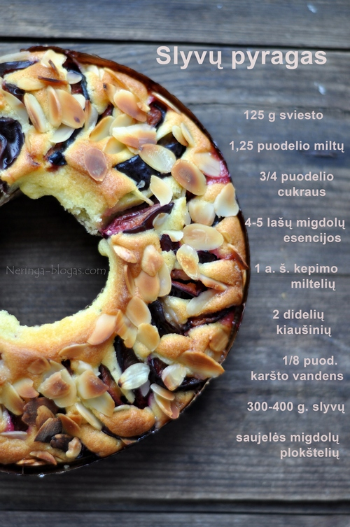 slyvu pyragas