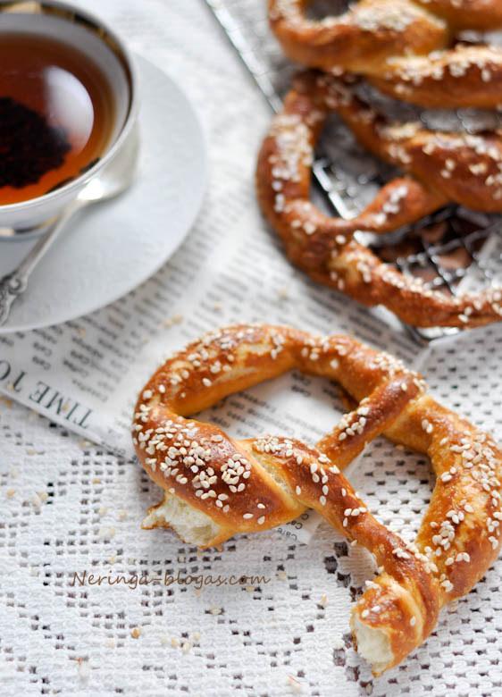 bavariski riestainiai - pretzels