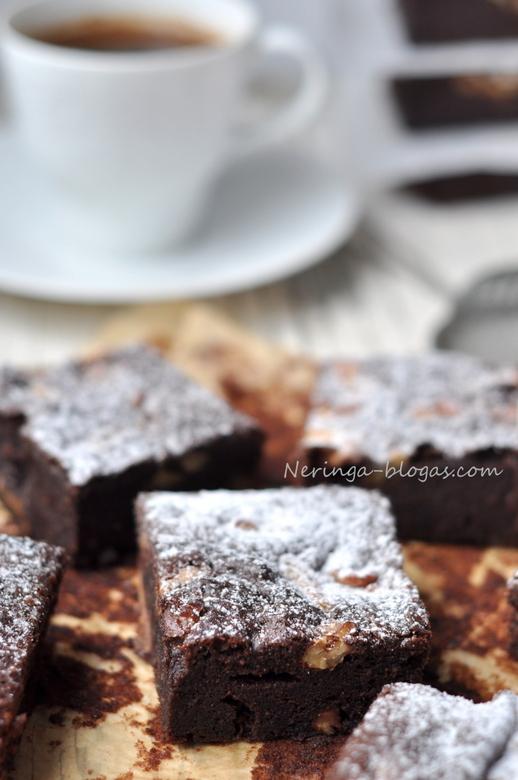 brownie su graikiniais riesutais