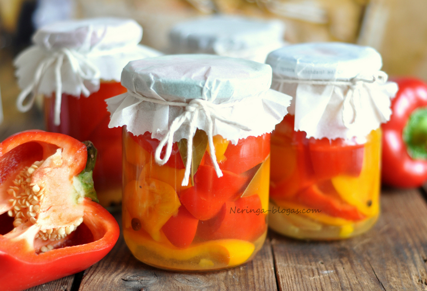 meduje marinuotos paprikos