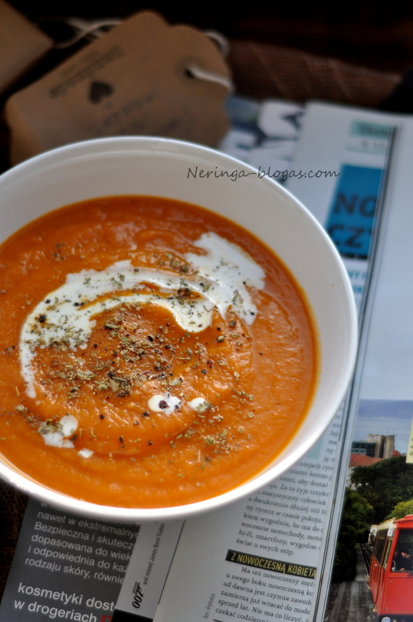 moliugu - pomidoru kremine sriuba